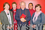 Pictured at the introduction of the new translation of the Roman Missal in the John Paul Pastoral Centre, Killarney on Thursday night were Frances Rowland, Anna Hickson, Bishop Bill Murphy, Edwina Gottstein and Eileen Bourke.