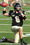 2 September 2006: Wake Forest quarterback Benjamin Mauk loosens up, pregame.  Mauk left the game in the third quarter with an arm injury and did not return. Wake Forest defeated Syracuse 20-10 at Groves Stadium in Winston-Salem, North Carolina in an NCAA college football game.