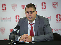 STANFORD, CA - November 29, 2017: Jerod Haase at Maples Pavilion. The Stanford Cardinal defeated Montana 70-54.