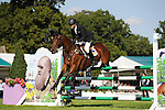 06/09/2015.  Stamford ,  England.  The Land Rover Burghley Horse Trials. Bill Levett (AUS) riding IMPROVISE  in action during the Show Jumping Phase on Day 4 of the 2015 Land Rover Burghley Horse Trials.  The Land Rover Burghley Horse Trials take place 3rd - 6th September.   Jonathan Clarke/JPC Images