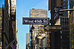 Street Signs on Fifth Avenue, Manhattan, New York City.