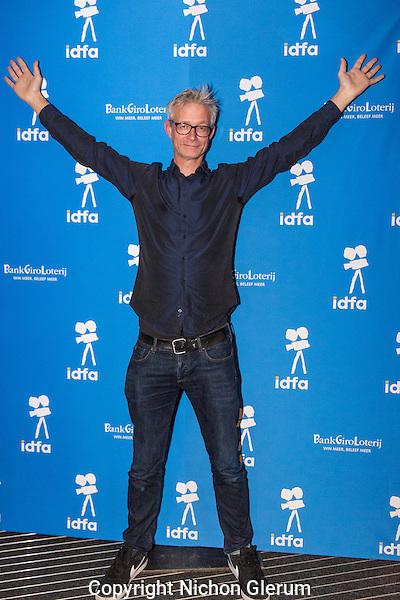 Amsterdam, november 2016, IDFA International Documentary Filmfestival Amsterdam. Premierewand IDFA in de Brakke Grond met: Michel Langedijk . Photo Nichon Glerum