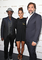LOS ANGELES, CA - JULY 13: Don Cheadle, Halle Berry and Javier Bardem at The Final Pitch $1 Million Global Start Up Competition winners announcement from Chivas' The Venture at LADC Studios in Los Angeles, California on July 13, 2017. Credit: Faye Sadou/MediaPunch