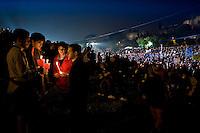Roma, 30-04-2011 - Italy - Migliaia di pellegrini radunati al Circo Massimo per partecipare alla veglia di preghiera per celebrare la Beatificazione di Giovanni Paolo II. .Photo by © Antonello Nusca/OTNPhotos - Obligatory Credit