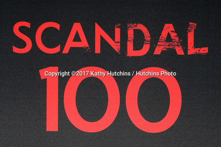 """LOS ANGELES - APR 8:  Scandal 100 Atmosphere at the """"Scandal"""" 100th Show Party at Fig & Olive Resturant on April 8, 2017 in West Hollywood, CA"""