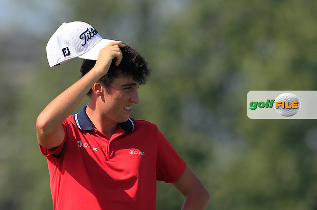 Renato Paratore (ITA) on the 4th tee during Round 1 of the 2016 KLM Open at the Dutch Golf Club at Spijk in The Netherlands on Thursday 08/09/16.<br /> Picture: Thos Caffrey | Golffile