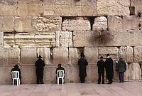 ISRAELE Gerusalemme Ebrei in preghiera al Muro del pianto