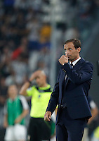 Calcio, Serie A: Juventus vs Fiorentina. Torino, Juventus Stadium, 20 agosto 2016.<br /> Juventus coach Massimiliano Allegri looks up during the Italian Serie A football match between Juventus and Fiorentina at Turin's Juventus Stadium, 20 August 2016. Juventus won 2-1.<br /> UPDATE IMAGES PRESS/Isabella Bonotto