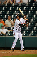 Richmond Flying Squirrels Gio Brusa (28) at bat during an Eastern League game against the Binghamton Rumble Ponies on May 29, 2019 at The Diamond in Richmond, Virginia.  Binghamton defeated Richmond 9-5 in ten innings.  (Mike Janes/Four Seam Images)