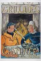 Europe/France/Bretagne/56/Morbihan/Le Pô , Carnac : La Calypso Restaurant  détail enseigne