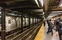America,New York,  Manhattan, subway station
