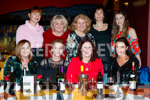 Enjoying Women's Christmas at Ristorante Uno, Tralee, on Friday night last were front l-r: Marie McCormack, Colleen McCormack, Claire O'Driscoll and Gail McCormack. Back l-r: Clare McCormack, Deanah McCormack, Marcella Finn, Donna O'Brien and Peg Healy (all from Camp).