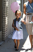 Jessica Alba took her family to a shopping at the posh kids store Bel Bambini in West Hollywood. Jessica, hubby Cash Warren, Honor and_Haven were spotted leaving the boutique with balloons and a huge gift basket. Los Angeles, California on 23.06.2012..Credit: Correa/face to face.. /MediaPunch Inc. ***FOR USA ONLY*** ***Online Only for USA Weekly Print Magazines*** / Mediapunchinc NORTEPHOTO.COM<br />