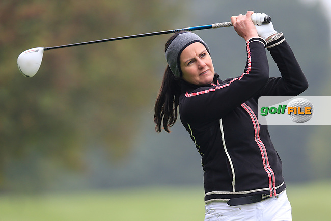 Hazel Kavanagh (Carr Golf Services) during the second round of the Irish PGA Championship, Dundalk Golf Club, Dundalk Co Louth. 02/10/2015<br /> Picture Golffile | Fran Caffrey | PGA<br /> <br /> <br /> All photo usage must carry mandatory copyright credit (&copy; Golffile | Fran Caffrey | PGA)