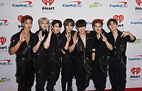 INGLEWOOD, CA - NOVEMBER 30: Wonho, Minhyuk, Hyungwon, Jooheon, Kihyun, Shownu, I.M.; Monsta X attends 102.7 KIIS FM's Jingle Ball 2018 Presented by Capital One at The Forum on November 30, 2018 in Inglewood, California. <br /> CAP/MPIIS<br /> &copy;MPIIS/Capital Pictures
