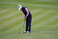 Celine Boutier of Team Europe on the 2nd green during Day 2 Foursomes at the Solheim Cup 2019, Gleneagles Golf CLub, Auchterarder, Perthshire, Scotland. 14/09/2019.<br /> Picture Thos Caffrey / Golffile.ie<br /> <br /> All photo usage must carry mandatory copyright credit (© Golffile | Thos Caffrey)