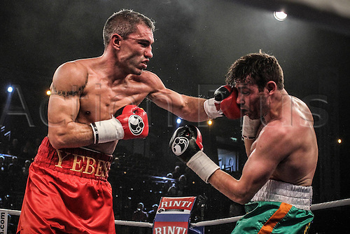 27.09.2014. Kiel, Germany. Middleweight non-title fight between  Jose Yebes and  Matthew Macklin. Macklin won the fight on points.