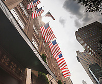 The Saks Fifth Avenue flagship store in New York on Thursday, June 11, 2015. Hudson's Bay, the Canadian owner of Saks and Lord & Taylor, reported a first-quarter loss of CA $54 million citing administrative expenses and costs related to sales. The Saks division rose 0.6 % while its outlet brand OFF 5th  rose 10.3 %. (© Richard B. Levine)