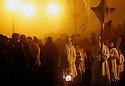 28/03/13 - SAUGUES - HAUTE LOIRE - FRANCE - Procession des Penitents Blancs lors du Jeudi Saint - Photo Jerome CHABANNE - Contact: 06 07 33 72 57