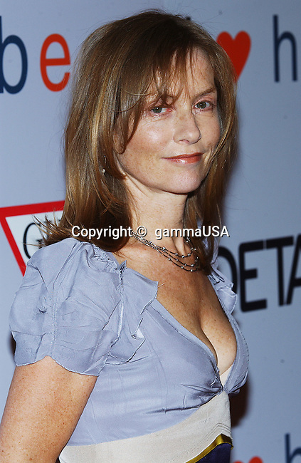 Isabelle Huppert arriving at the I Love Huckabees Premiere at the Grove Theatre in Los Angeles. January 20, 2004