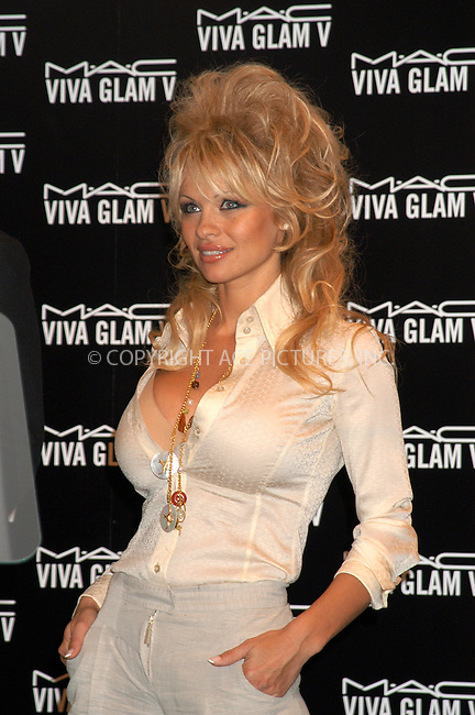 WWW.ACEPIXS.COM . . . . . ....NEW YORK, MARCH 31, 2005....Pamela Anderson at a press conference at Christie's, where the MAC Cosmetics AIDS Awareness Charity named her spokesmodel for the 'Viva Glam V' lipstick.....Please byline: KRISTIN CALLAHAN - ACE PICTURES.. . . . . . ..Ace Pictures, Inc:  ..Craig Ashby (212) 243-8787..e-mail: picturedesk@acepixs.com..web: http://www.acepixs.com