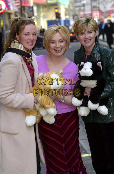 "ERIKA NORTH, WENDY TURNER & ANTHEA TURNER .""Cats Add Life"" Launch.Ref: 2063.toy cats, half length, half-length.www.capitalpictures.com.sales@capitalpictures.com.© Capital Pictures"