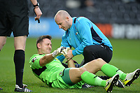 Ben Hinchliffe Of Stockport County FC goes down for treatment  during Barnet vs Stockport County, Emirates FA Cup Football at the Hive Stadium on 2nd December 2018