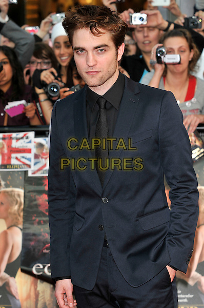 ROBERT PATTINSON .'Water for Elephants' UK premiere at Westfield shopping centre, London, England 3rd May 2011.half length stubble facial hair black suit rob hand in pocket .CAP/PL.©Phil Loftus/Capital Pictures.