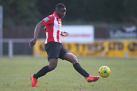 Olumide Oluwatimilehin of Hornchurch during AFC Hornchurch vs Canvey Island, Bostik League Division 1 North Football at Hornchurch Stadium on 10th March 2018