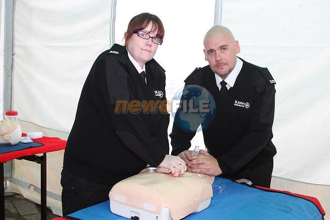 Adrian Cooney and Sarah Maher at the St.Johns Ambulance demonstration at Scotch Hall....Picture Jenny Matthews/Newsfile.ie