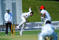 Wellington's Michael Snedden bowls during day three of the Plunket Shield cricket match between the Wellington Firebirds and Canterbury at Basin Reserve in Wellington, New Zealand on Thursday, 31 October 2019. Photo: Dave Lintott / lintottphoto.co.nz