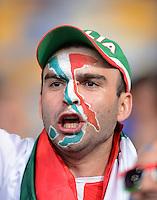 FUSSBALL  EUROPAMEISTERSCHAFT 2012   FINALE Spanien - Italien            01.07.2012 Italienischher Fan