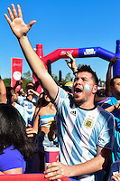 Foxborough, MA - Saturday June 18, 2016: Fans, Sponsor prior to a Copa America Centenario quarterfinal match between Argentina (ARG) and Venezuela (VEN)  at Gillette Stadium.