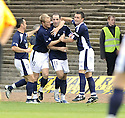 10/10/2009  Copyright  Pic : James Stewart.sct_jspa10_dundee_v_partick  . :: GARY HARKINS CELEBRATES AFTER HE SCORES DUNDEE'S SECOND :: .James Stewart Photography 19 Carronlea Drive, Falkirk. FK2 8DN      Vat Reg No. 607 6932 25.Telephone      : +44 (0)1324 570291 .Mobile              : +44 (0)7721 416997.E-mail  :  jim@jspa.co.uk.If you require further information then contact Jim Stewart on any of the numbers above.........
