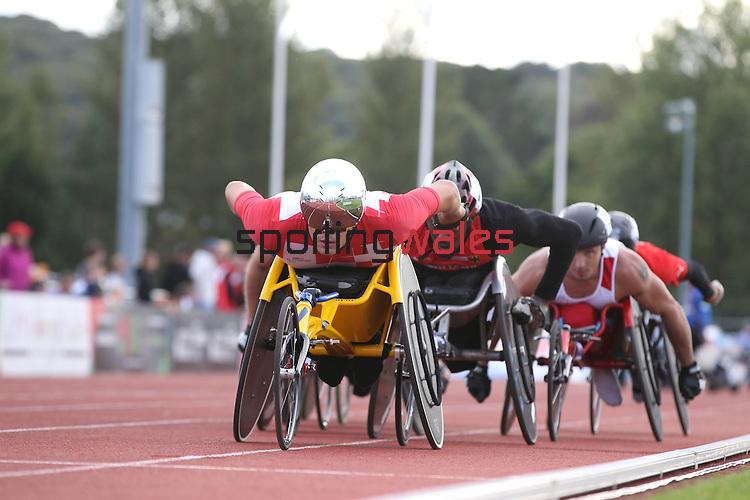 IPC European Athletics Championship 2014<br /> Marcel Hug (SUI)<br /> Men's 1500m T54<br /> Swansea University<br /> 19.08.14<br /> &copy;Steve Pope-SPORTINGWALES
