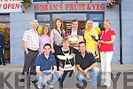 Total Produce makes a presentation to Dan Horan at the official opening of Horan's Health store in Killarney on Friday front row l-r: Tim Lane, Eileen Horan, Mike Leahy. Back row: Michael Horan, Angie Koeller, Fiona Daly (Total Produce), Dan Horan, Sandra Horan and Sharon Cotter (Total Produce)