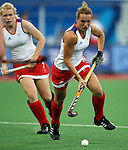 Great Britain Vs USA at the .Beijing Olympic Green Hockey Stadium, Beijing olympics 2008  .Photo: Grant Treeby/WSP