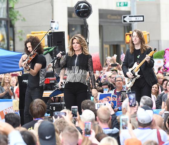 NEW YORK, NY - June 16: Shania Twain performs on NBC's Today on Rockefeller Plaza on June 16,2017 In New York City.@John Palmer / Media Punch