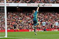 Bernd Leno of Arsenal saves the shot during the Premier League match between Arsenal and Aston Villa at the Emirates Stadium, London, England on 22 September 2019. Photo by Carlton Myrie / PRiME Media Images.