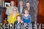 SPECIAL BIRTHDAY: Kathleen Burke, St John's Park, Tralee, (front centre) celebrating her 90th birthday with her family in the Ballygarry House Hotel, Tralee on Saturday night. Pictured with Kathleen are Kay Dunne and Eileen Burke, with Liam, Francis and Jerome Burke.