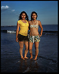 Laura and Maria Leiva. Honduras by way of the Bronx. Coney Island teen-agers. Summer 2008.