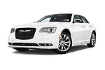 Stock pictures of low aggressive front three quarter view of 2017 Chrysler 300 C 4 Door Sedan Low Aggressive