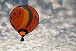 A balloon in flight.  Balloon Festival, Long Branch Farm, Winchester, Virginia, USA.  © RickCollier.com.