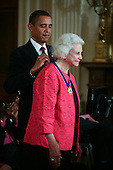 Washington, DC - August 12, 2009 -- United States President Barack Obama presents former US Supreme Court Justice Sandra Day O'Connor the 2009 Medal of Freedom.  The award is the highest honor a civilian can achieve for being recognized for their outstanding achievements in life. The award were given to Stephen Hawking, Ted Kennedy, Billie Jean King, Harvey Milk (posthumously) , Sandra Day O'Connor, Desmond Tutu, Dr. Pedro Jose Greer, Nancy Goodman Brinker, Jack Kemp (posthumously), Reverend Joseph Lowery, Dr. Joseph Medicine Crow, Mary Robinson, Janet Davison Rowley, Dr. Muhammad Yunus, Chita Rivera, and Sidney Poitier. .Credit: Gary Fabiano / Pool via CNP