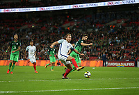 Harry Kane of England scores his side's first goal  <br /> <br /> Photographer Rob Newell/CameraSport<br /> <br /> FIFA World Cup Qualifying - European Region - Group F - England v Slovenia - Thursday 5th October 2017 - Wembley Stadium - London<br /> <br /> World Copyright &copy; 2017 CameraSport. All rights reserved. 43 Linden Ave. Countesthorpe. Leicester. England. LE8 5PG - Tel: +44 (0) 116 277 4147 - admin@camerasport.com - www.camerasport.com