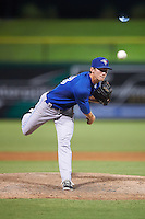 GCL Blue Jays relief pitcher Jared Carkuff (18) during a game against the GCL Phillies on August 16, 2016 at Bright House Field in Clearwater, Florida.  GCL Blue Jays defeated GCL Phillies 2-1.  (Mike Janes/Four Seam Images)
