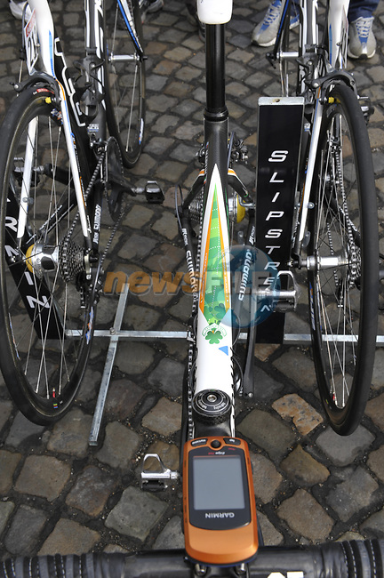 Daniel Martin's (IRL) Garmin Slipstream Felt bike lined up before the start of the 95th running of Liege-Bastogne-Liege cycle race, 26th April 2009 (Photo by Eoin Clarke/NEWSFILE)