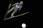 Sami Niemi competes during the Normal Hill Ski Jumping event as part of the Winter Universiade Trentino 2013 on 14/12/2013 in Predazzo, Italy.<br /> <br /> &copy; Pierre Teyssot - www.pierreteyssot.com