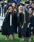 Left to right: Yasi Saderi, Annie Segale, Jayme Curtis and Melanie Godwin before the University of Nevada, Reno Spring Commencement Exercises on Saturday morning, May 17, 2014.