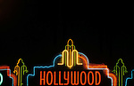 Hollywood movie marquee sign on Hollywood Blvd.